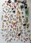A large selection of mixed costume jewellery, mostly pairs of earrings, etc