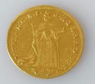 A Hungarian Maria Theresa gold 2 ducat coin, 1765, 6.95g