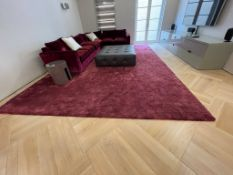 A large viscose drawing room rug by AKS Rugs, 480 x 375 cm, in very good condition. Note: This