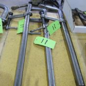 """LOT OF 3 BESSEY BAR CLAMPS 7"""" W X 24"""" L"""