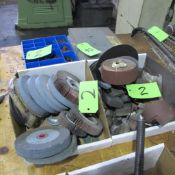 LOT OF GRINDING WHEELS, BUFFING ATTACHMENTS AND 2 GRINDING HEAD KITS