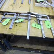 """LOT OF 4 BESSEY BAR CLAMPS 7"""" W X 13"""" L"""