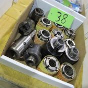 1 BOX OF SANDVIK COLLETS AND HOLDERS