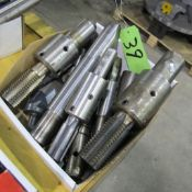 1 BOX OF TOOL HOLDERS, TAPS AND ENDMILLS