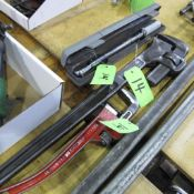 """LOT OF GRAY TOOLS TORQUE WRENCH """" AND 2 PIPE WRENCHES"""
