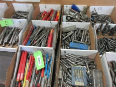 6 BOXES ASSORTED DRILL BITS AND REAMERS