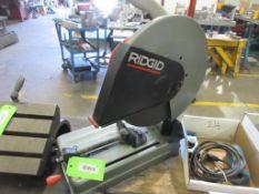 "RIDGID 14"" DIA ABRASIVE CHOP SAW, MODEL CM14000 , 2 SPARE DISCS"