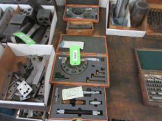 2 BOXES MITUTOYO MICROMETERS, 1 BOX MITUTOYO BORE GAUGE, 1 BOX PRECISION MEAURE & BLOCK