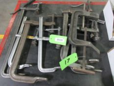 LOT ASSORTED C CLAMPS