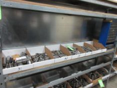 6 BOXES ASSORTED DEMOUNTABLE GUIDE PINS, 5 TOOL DRAWER BINS W/ GUIDE PINS