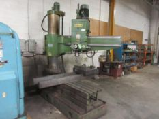 KAO MING 5' RADIAL DRILL MODEL KMR-1600DH, 2 HD T SLOT BOX TABLES, 2000, SN 60380 (EXCLUDES ANY
