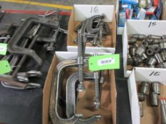2 BOXES ASSORTED C CLAMPS
