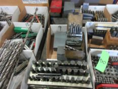2 BOXES DRILL BITS AND RACK CENTER PUNCHES
