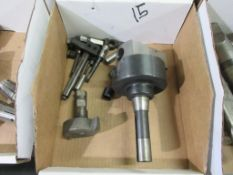 6 BOXES TOOLING HEADS, COLLETS, CARBIDE CUTTERS