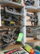 4 BOXES WELD CLAMPS, CLAMPS & TOOLS