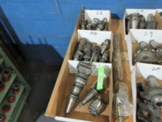 3 BOXES CAT 40 TOOLING, 1 LONG TOOL CUTTER