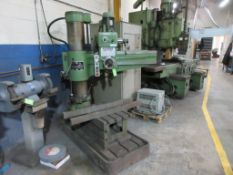 KAO MING 3' RADIAL DRILL, MODEL KMR 1100 S, HD T SLOT BOX TABLE, 1998, SN 10294