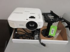 EPSON HOME CINEMA PROJECTOR MODEL H851A, POWER CORD, HDMI CABLE, REMOTE CONTROL, SN X4QP7700944, SPA