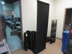 """(9) ROLL UP FELT STANDS 32"""" X 86"""" W BAGS"""