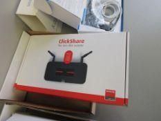 CLICKSHARE MODEL R9861008NA, PRESENTATION SHARING NETWORK, SN 1870011597