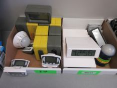 (2) BOXES ASSORTED CLOCKS AND TIMERS