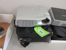 OPTOMA PROJECTOR MODEL EP731, POWER CORD, SOUND CORD, VGA ADAPTOR, SN A867405AAAAAA1405