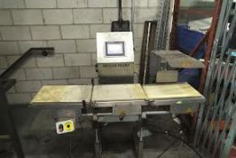 Mettler Toledo model XC3 check weigher (Exclusive rigging fee $100 will be added to invoice)