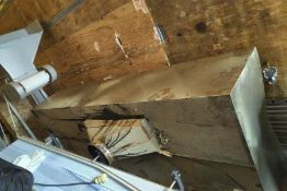 4' x 10' Stainless steel exhaust hood only, no exhaust fan (Exclusive rigging fee $150 will be added