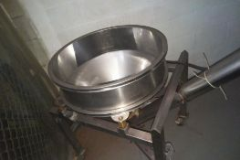 """Stainless Auger Conveyor, 29.5"""" diameter infeed hopper, output height 90 inches, includes top hopper"""