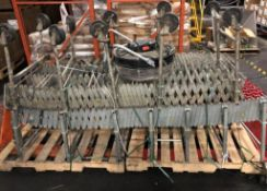 """(3) Flexible Skate Wheel Conveyors, (1) Approx. 90""""l x 12""""w, (2) Approx. 80"""" (fan not included) (Exc"""