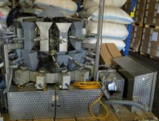 Eagle Parsons 14 head rotatory combination scale, large buckets, includes operating manual, control