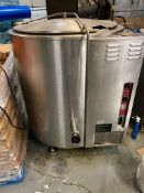 2011 Crown Food Service KLS 100G self contained steam kettle, 100 gallon capacity, natural gas, sn 0