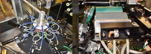 8 Station Over Print Varnish Indexing System. 8 station indexing system with vacuum/air - load/unloa