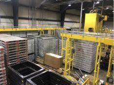 Sager Conveyor System. Various Sager single-lane and multi-lane table top conveyor modules with Rexn