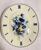 Seltene Meissen Uhr mit blauer Blume