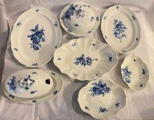 Meissen Essservice mit blauen Blumen