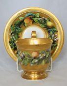 Meissen vergoldetes Gedeck mit umlaufender Zitronenmalerei