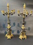 Feuervergoldete Bronze 6 k?pfige Kerzenhaltern