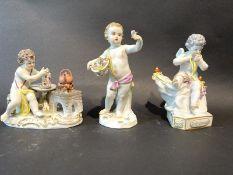 Drei Meissen Figuren