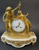 Feuervergoldete Uhr auf Marmor