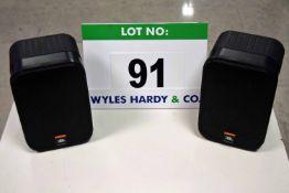 A Pair of JBL Control 1 Pro Professional Audio Monitors