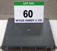 A HEWLETT PACKARD ProCurve Switch 2848 48-Port (44 plus 4) Rack mounted Network Switch
