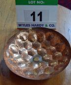 A TOM DIXON 385mm dia. Beaten Copper Hex Bowl