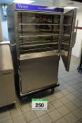 A VICTOR Banquettine 100 Model BH100H2Z 2-Door Castor mounted Electric Oven