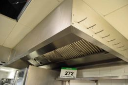 A 2.8M x 1.2M Ceiling mounted Filtered Fume Extraction Hood with Integrated Lighting (Risk