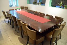 A Heavy Mahogany Extending Table, 3.45M (Extended) x 1.6M Wide with 650mm x 1.6M Removable Extension