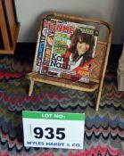 A Folding Bamboo Magazine Caddy