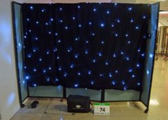 A LEDJ 3M x 2M Electric LED Star Cloth with Controller in a Soft Transportation and Storage Bag