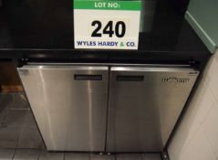 A WILLIAMS Model BC255 Twin Door Stainless Steel Under Counter Drinks Chiller Cabinet