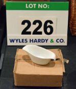 A Box containing Six OLYMPIA White China Sauce Boats